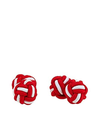 Ortiz & Reed Gemelos Multi-Color Knots Cufflinks Rojo / Blanco