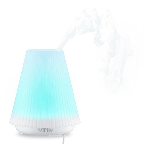 Vtin 100ml Aromatherapy Essential Oil Diffuser Air Humidifier with 7 Changing Colors & Auto Shut-off System