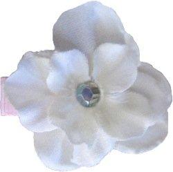 Posies Accessories Small Geranium White Flower Hair Clip
