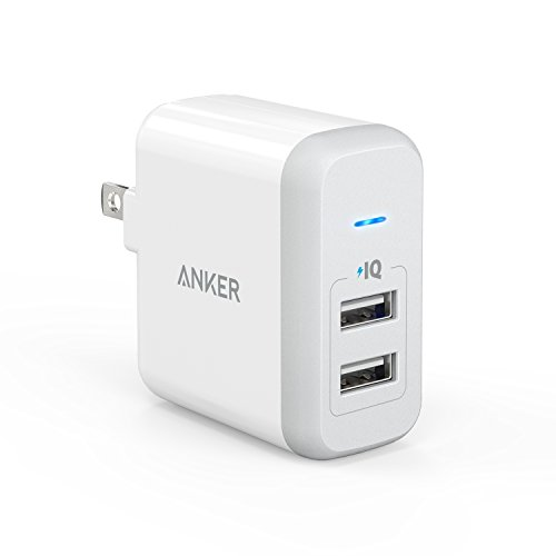[Upgraded] Anker 24W Dual USB Wall Charger, PowerPort 2 for iPhone 7 / 6s / Plus, iPad Pro / Air 2 / mini, Galaxy S7 / S6 / Edge / Plus, Note 5 / 4, LG, Nexus, HTC and More (Nexus 5 Warranty compare prices)