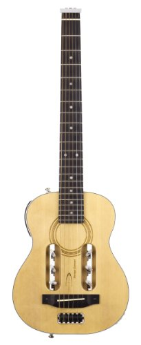 Traveler Guitar Esco Gls Concert Steel-String Acoustic-Electric Guitar With Gig Bag, Natural Gloss