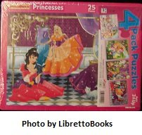 4 Pack Puzzles: Princesses, Faries, Ice Cream Shoppe & My Little Pony Puzzles