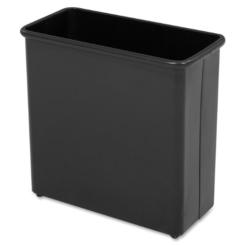 Safco Products 9616BL Rectangular Wastebasket, 27-1/2 Qt. (Qty. 3), Black