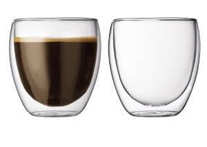 ZIMEI Novità di tazze di vetro isolante doppio creativo espresso tazze ispessito a forma di uovo in vetro borosilicato tazze 240ml , 6 set