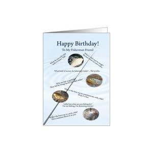 Amazon.com: Fishing jokes birthday for friend Card: Hea