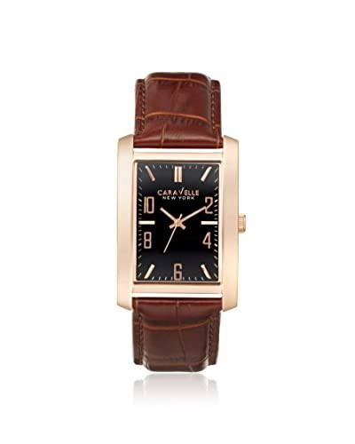 Caravelle New York by Bulova Men's 44A104 Brown/Black Leather Watch