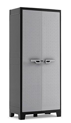 KIS Armadio in plastica da esterno grigio impermeabile Titan
