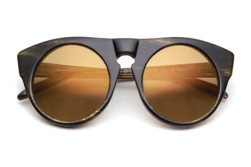 Alexander Wang Alexander Wang by Linda Farrow Round Frame Acetate Sunglasses (Tortoise)