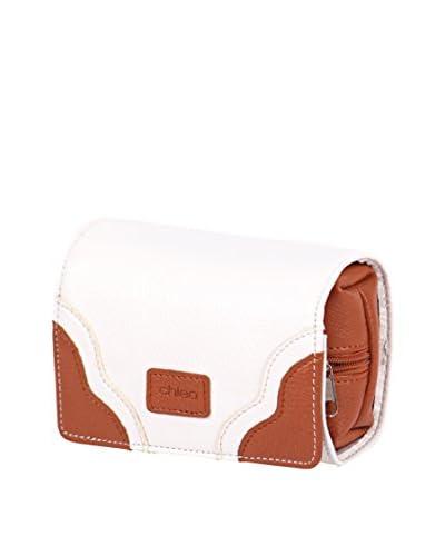 Morelle & Co. Two-Tone Jewelry Purse, Cream/Luggage