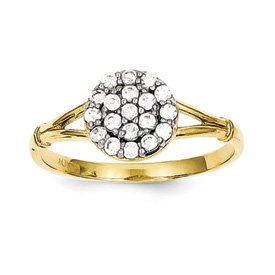 Genuine IceCarats Designer Jewelry Gift 10K Cz Cluster Ring Size 6.00