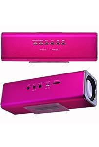 Music Angel Mini USB/SD/FM Speaker - Pink