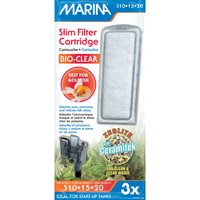 "Marina Slim Filter Zeolite Plus Ceramic Cartridge 1.5"" length x 3"" width x 6"" height 3-count"