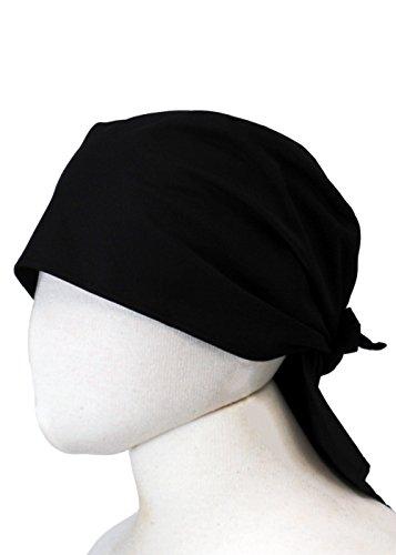 (センツキ) SENTSUKI バンダナキャップ カフェ 飲食 帽子 立体型 男女兼用 日本製 【ユニフォーム】 ブラック フリーサイズ 1090K