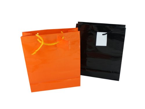 Halloween Gift Bags Assorted Orange And Black Case Pack 120