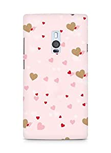 Amez designer printed 3d premium high quality back case cover for OnePlus Two (Hearts)