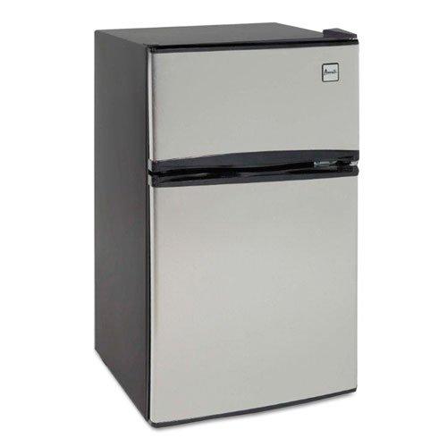 Avanti - Counter-Height 3.1 Cu. Ft Two-Door Refrigerator/Freezer, Black/Stainless Steel Ra3136Sst (Dmi Ea