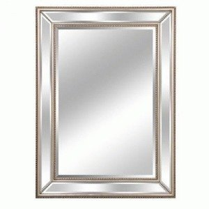 Lofty Mercer Diamond Mirror, 32 By 44-Inch, Silver