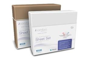 Serta iComfort Sheet Set, King, Mocha Solid