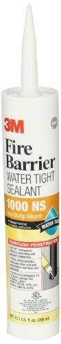 3M 1000NS-CART 10.1 Oz. Fire Barrier Water Tight Sealant (Pack of 1) Model: 1000 NS (Hardware & Tools Store) (Ns 1000 compare prices)