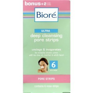 Biore Ultra Deep Cleansing Pore Strips, 6 Nose Strips each