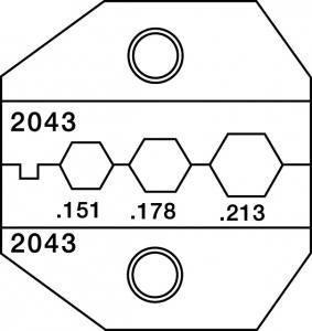 paladin tools 2043 crimpall 1300 8000 series die for sma fc fiber optic connectors crimpers. Black Bedroom Furniture Sets. Home Design Ideas