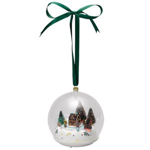 Mr. Christmas Gingerbread Glass Scene Ornament