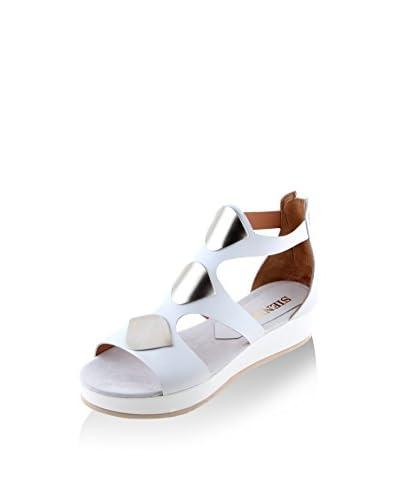SIENNA Sandalo Zeppa Bianco EU 38