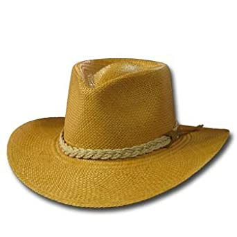 6fecabfa Classic Aficionado Putty Panama Hat Fine Straw Wide Brim at Amazon