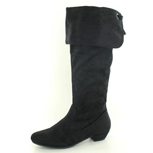 Spot On - Stivali al ginocchio - Donna (40 EUR) (Nero)