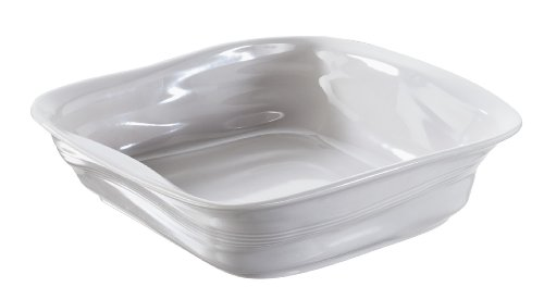 Revol 646288 Froisses Crumple Square Dish, 9.75 by 9.80-Inch, Taupe