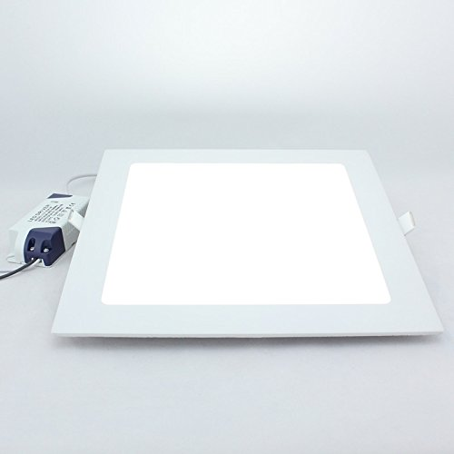 Twopages 18W 1440Lm Square Panel Downlight, Mount Hole 205*205Mm, 100~240V Input