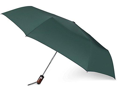PLEMO自動開閉折り畳み傘持ち運び携帯用紳士傘、ハンターグリーン ―(113センチ)
