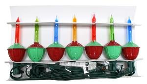 For Sale Indoor/Outdoor Bubble Light Set In Traditional Red/Green Combo