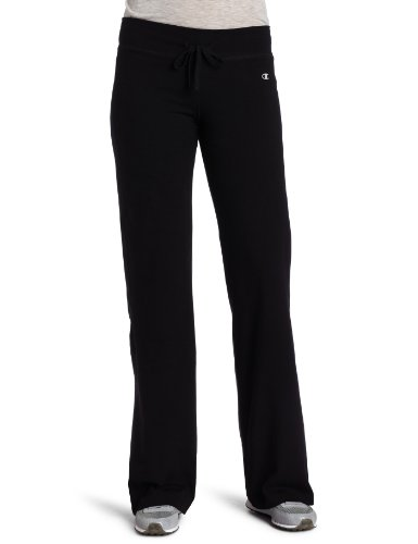 Champion Women's Sem-Fit Fitness Pant, Black, Small