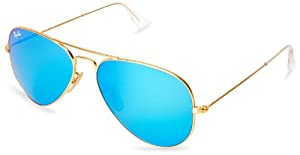 Ray-Ban Aviator 112/17 Aviator Sunglasses,Matte Gold,58 mm