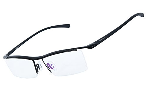 Rimless Glasses Malaysia : Agstum Pure Titanium Half Rimless Business Glasses Frame ...