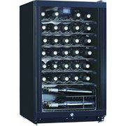 Midea Whs-144W(N) 35-Bottle Wine Cooler, Black