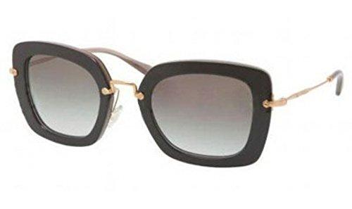 MIU MIU MU07OS, Occhiali da Sole Donna, Nero (Top Black/Opal Frame with Gray Gradient Lens), Taglia Unica (Taglia Produttore: One Size)