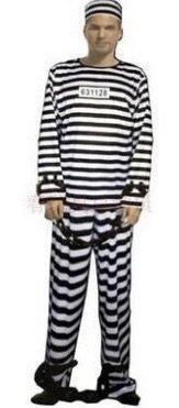 囚人 男女兼用 コスプレ 3点セット ( 囚人服 帽子 手錠)