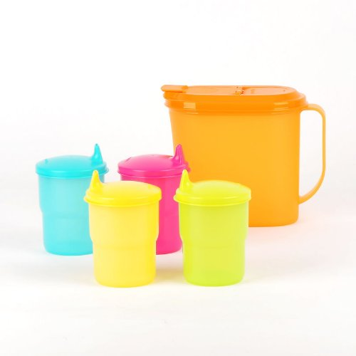 Tupperware New 1Qt Pitcher 8Oz Tabletop Tumblers