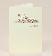 Just Hitched Floral Wedding Card