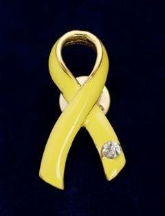 Yellow Ribbon Pin-Austrian Crystal (36 Pins)