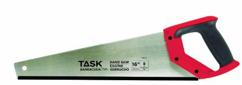 Task Tools T88116  16-Inch Barracuda Handsaw,  Rubber Grip