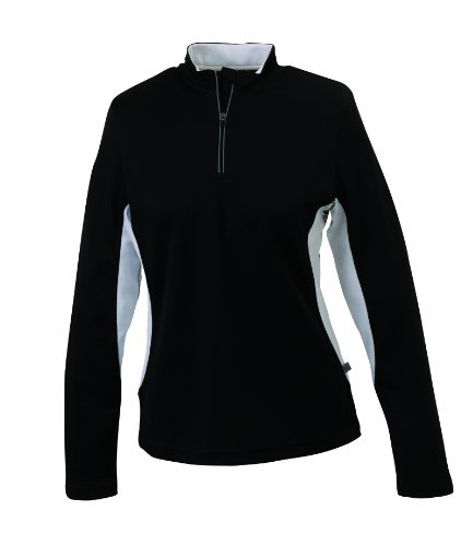 James & Nicholson - Running Shirt, Camicia di maternità Donna, Nero (black/white), Medium (Taglia Produttore: Medium)