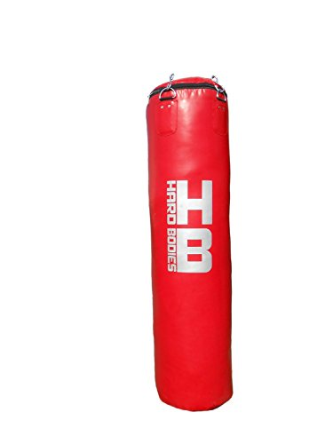 Hard Bodies 4 Feet Synthetic Leather Punching Bag – Red – UnFilled