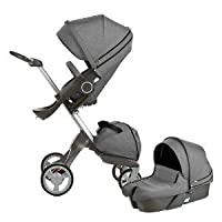 Stokke XPLORY Newborn Stroller (Black Melange)