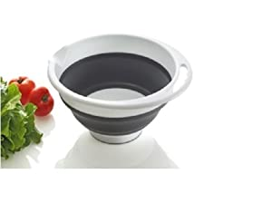Alex Mccord silicone collapsible salad mixing bowl - 5qt.