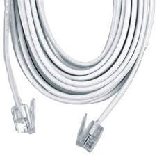 Permo 15 Feet White Telephone Extension Cord Cable Line Wire from Permo
