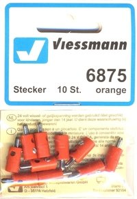 Viessmann 6875 10 Querlochstecker orange