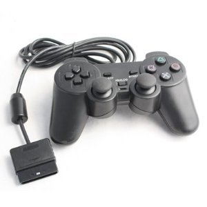 NEW Black Generic Black Dual Shock Analog Controller GamePad for PS2